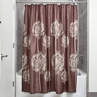 InterDesign Dandelion Fabric Shower Curtain Water-Repellent and Mold- and Mildew-Resistant for Master Standard 37020