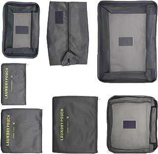 Creative-Idea Travel Storage Bags,7pcs Grey Resilient wear-Resistant Travel Organiser Suitcase Bags Pouch Travel Compressi...