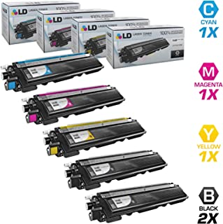 LD Compatible Toner Cartridge Replacement for Brother TN210 (2 Black, 1 Cyan, 1 Magenta, 1 Yellow, 5-Pack)
