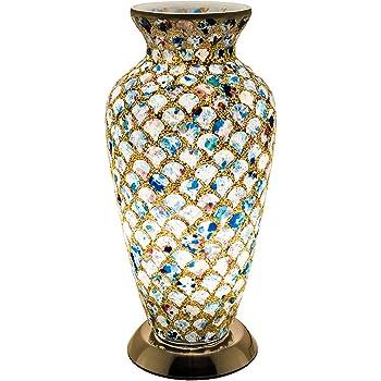 Petit vase en verre mosa/ïque en verre /à effet miroir