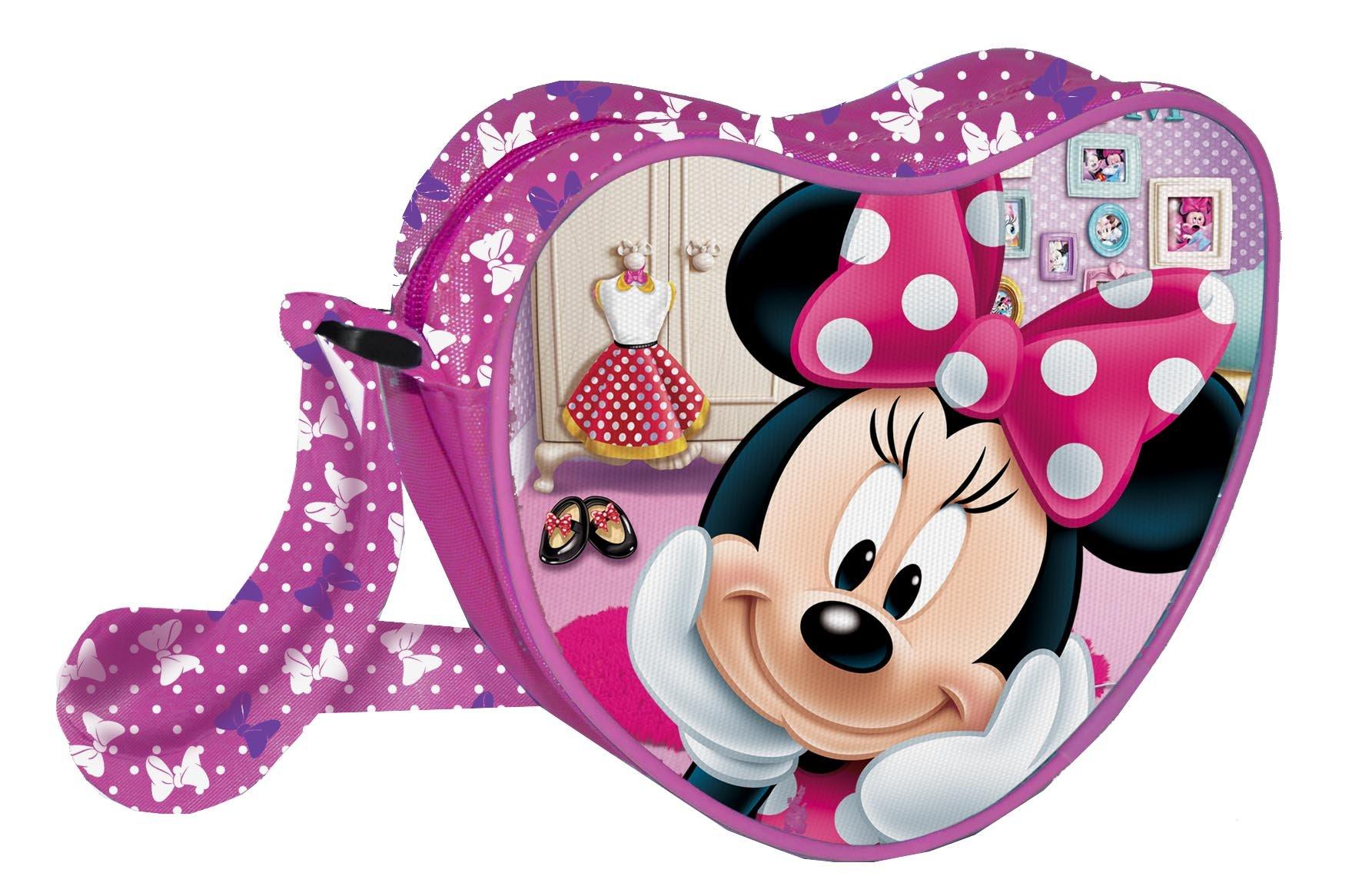 Coriex PINK BOW 迪士尼米妮 HEART 单肩包 儿童运动包,18 厘米,多色