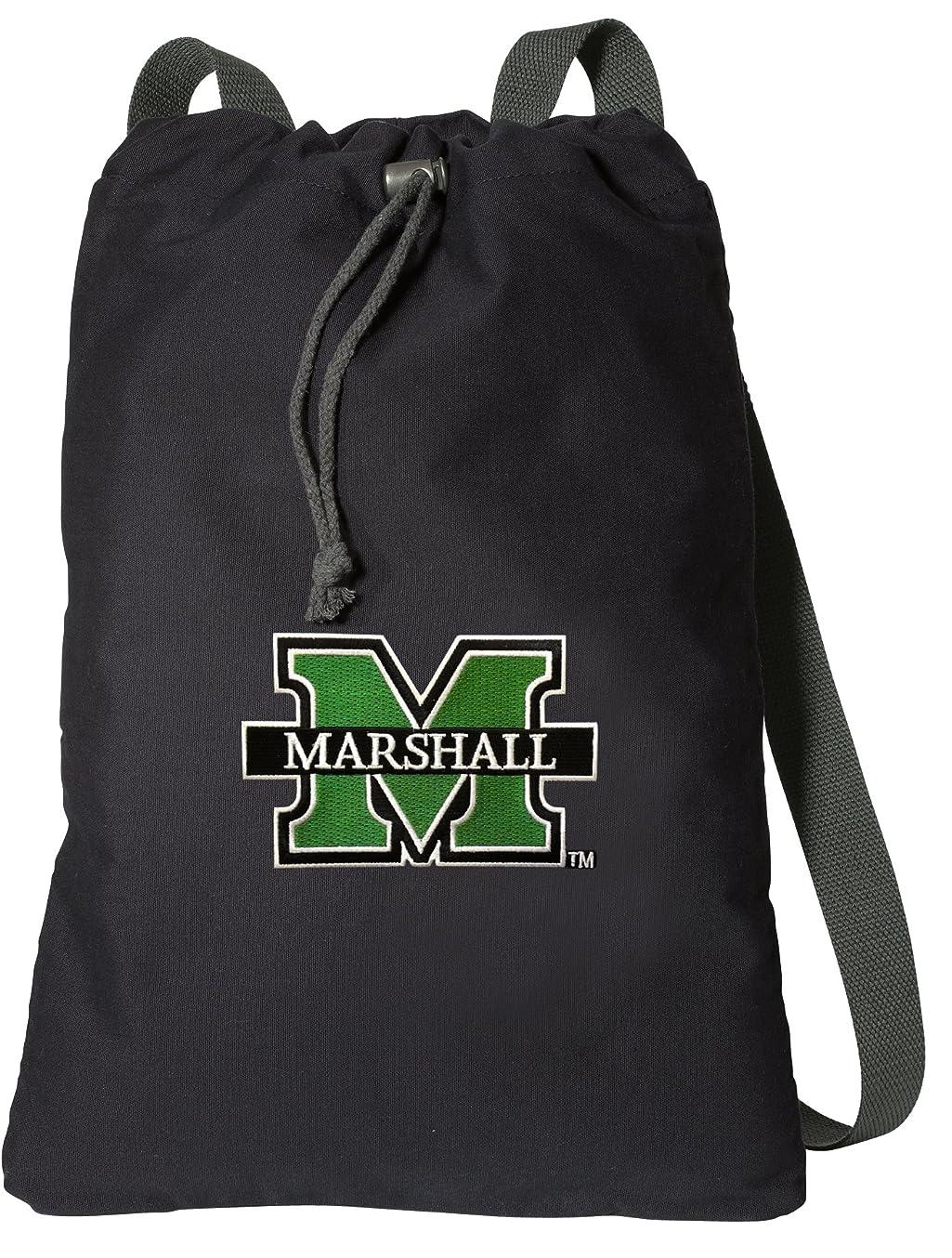 紳士犠牲対人マーシャル大学DrawstringバックパックリッチマーシャルCinchキャンバスバッグ