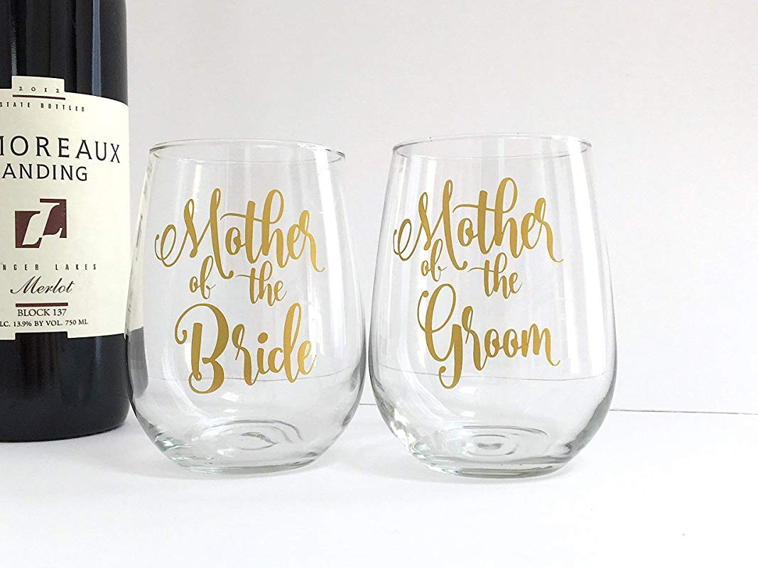 Mother Of The Bride And Groom Wine Glasses Set Of 2