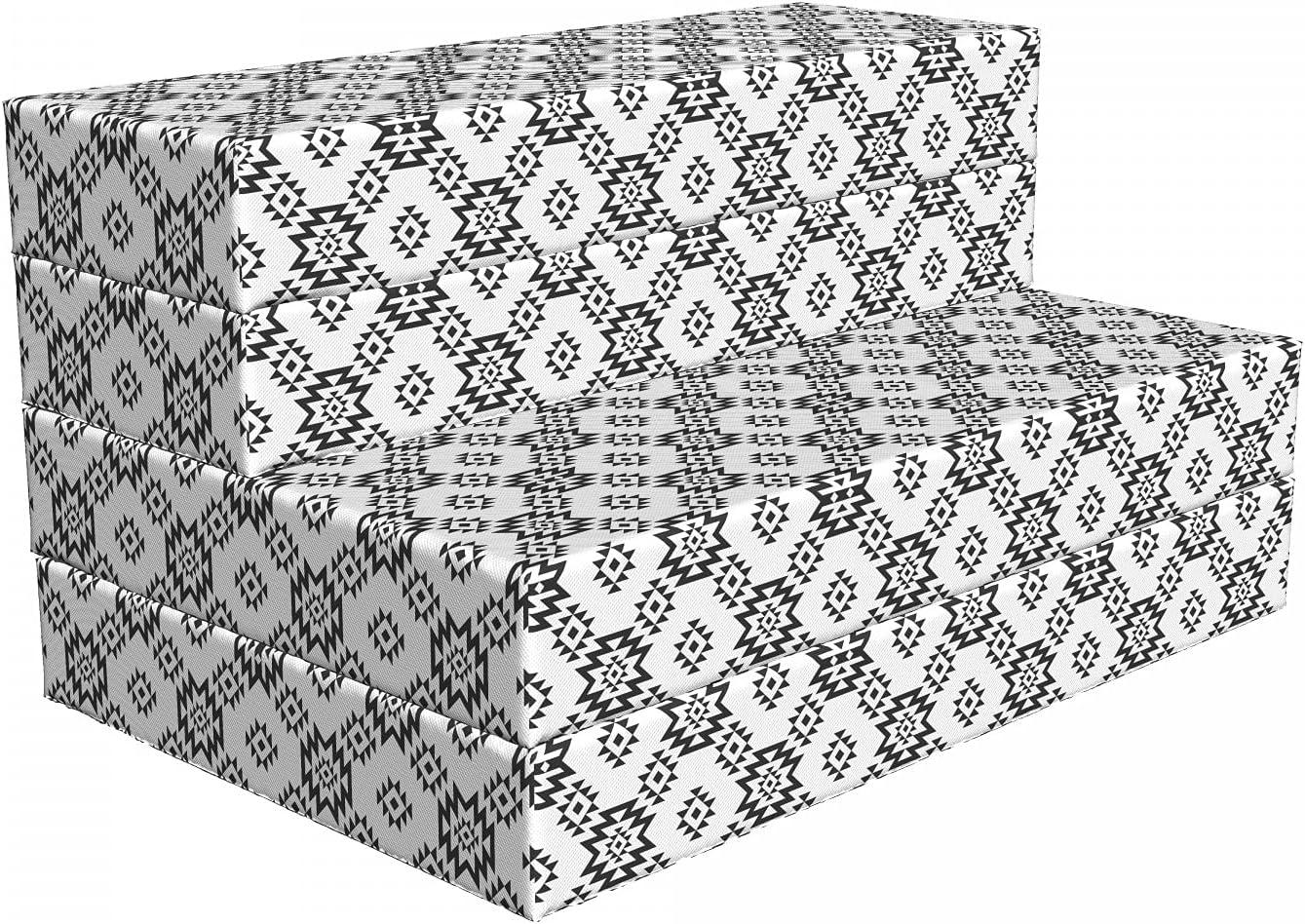 Ambesonne Seattle Mall Tribal Foldable Max 76% OFF Mattress Motif 39.4