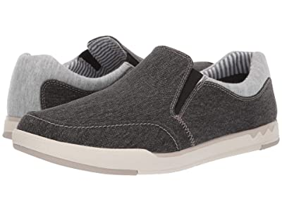 Clarks Step Isle Slip (Black Canvas) Men