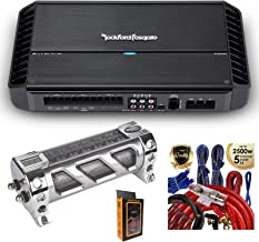 Rockford Fosgate P1000X5 1000W RMS Punch Series 5-Channel Stereo Full-Range Class AB/D Car Amplifier with 2.5 Farad Capacitor & 5 Channel Amp Kit