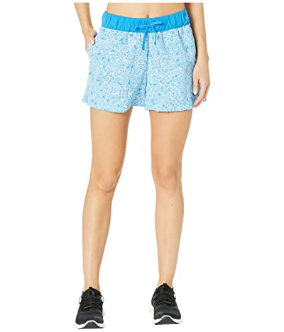 The North Face Class V Shorts (Clear Lake Blue Floral Block Print) Women