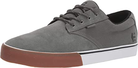 Etnies Men's Jameson Vulc Skate Shoe, Dark Grey/White/Gum, 8.5 Medium US