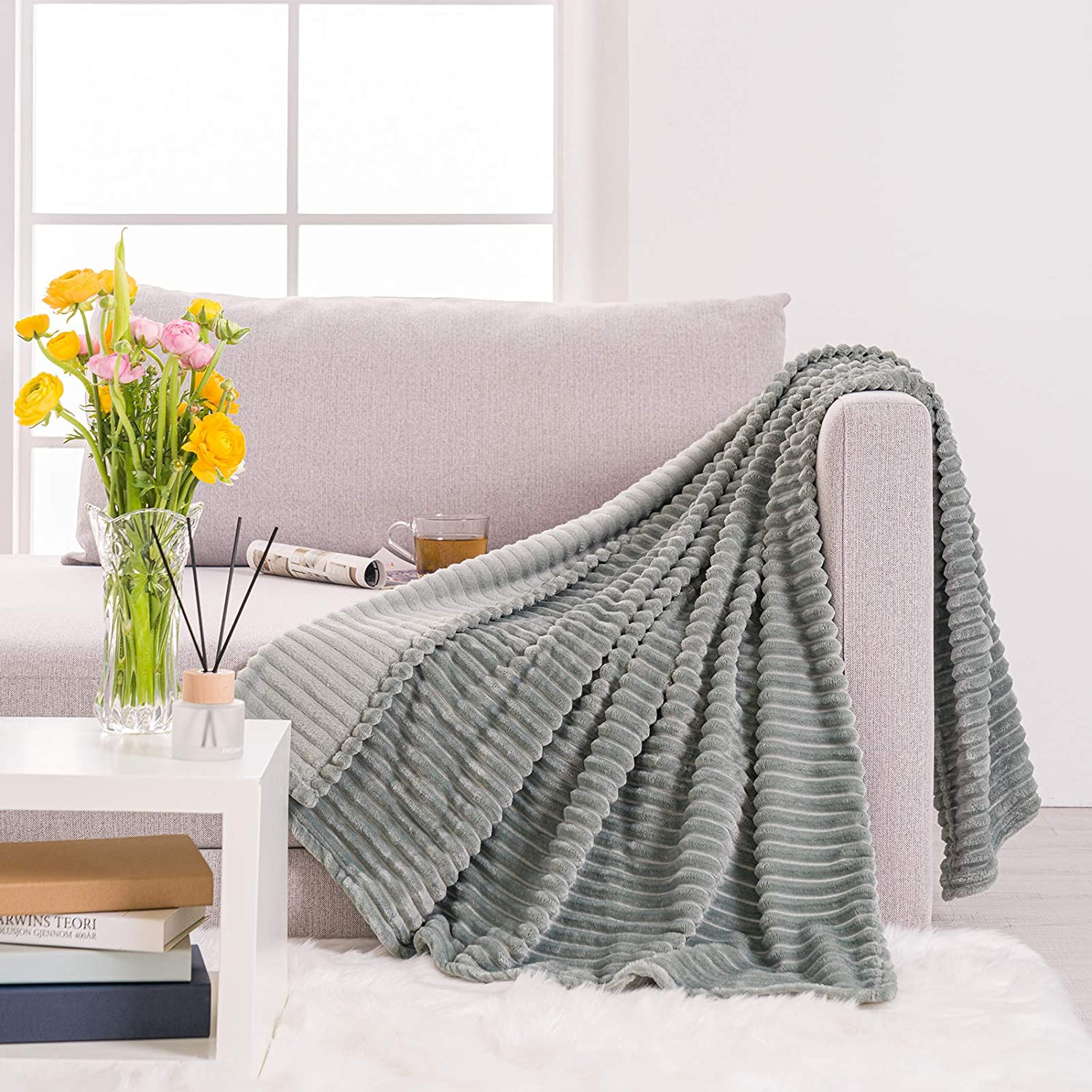 Manufacturer OFFicial shop RECYCO Flannel Throw Blanket for Discount mail order L Soft Blankets Cozy Bed