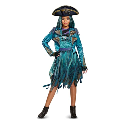 Disguise 24151G Uma Deluxe Descendants 2 Costume, Teal, Large (10 12)