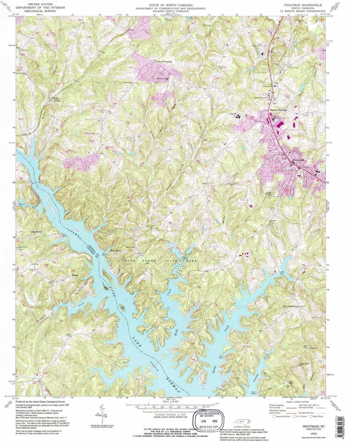 YellowMaps Luxury Troutman NC topo map 7.5 Scale X Selling and selling Minute 1:24000