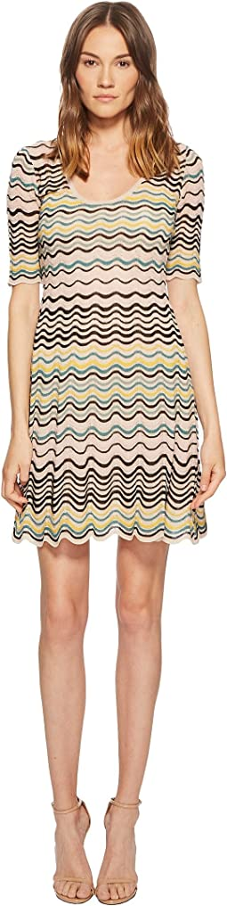 Wave Ripple Knit Dress