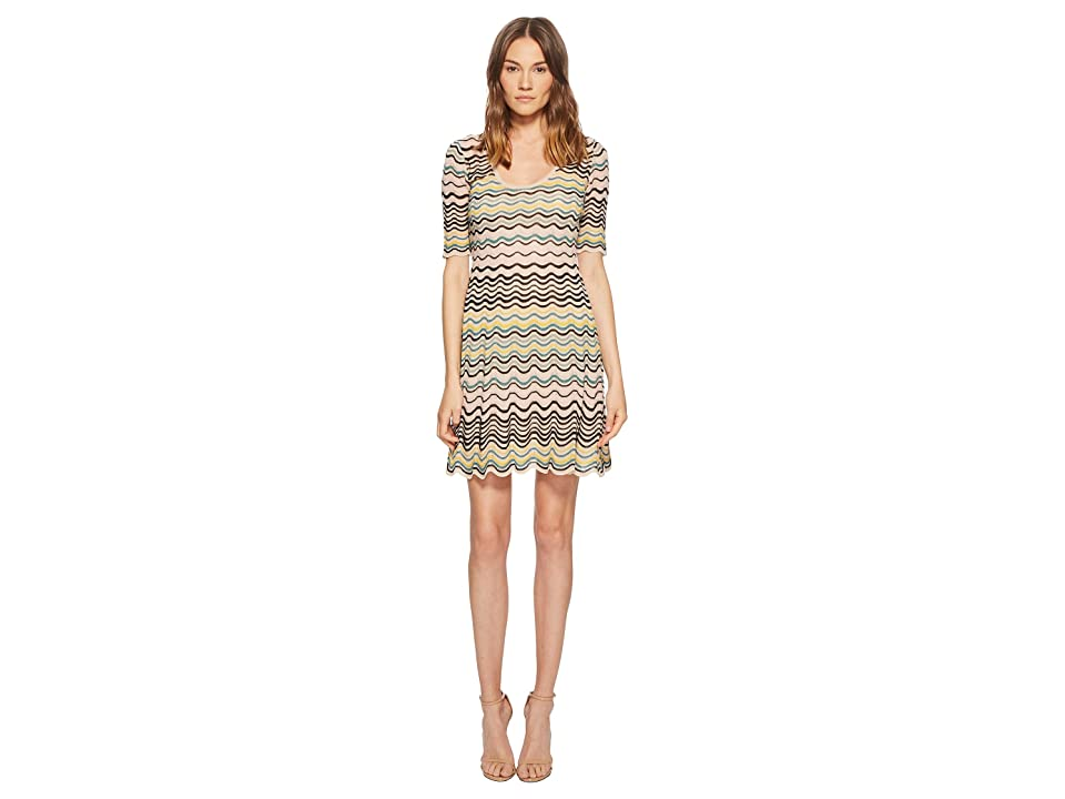M Missoni Wave Ripple Knit Dress (Nude) Women