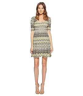 Wave Ripple Knit Dress