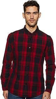 Amazon Brand - Symbol Men's Checkered Slim Fit Casual Shirt