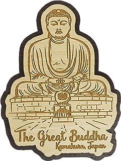 Printtoo Souvenir Holz Der Grosse Buddha, Kamakura, Japan Gr