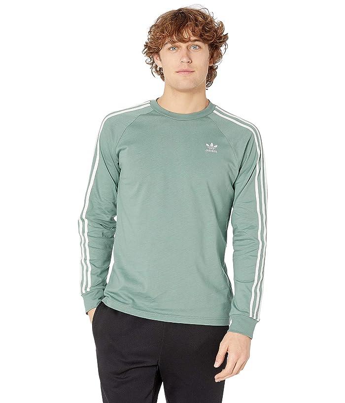 adidas Originals 3-Stripes Long Sleeve Tee (Vapour Steel) Men