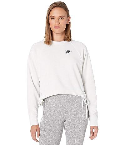 Nike NSW Essential Crew Fleece Tie (Birch Heather/Black) Women