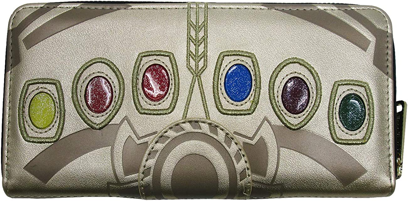 Super intense SALE Loungefly x Marvel Thanos Infinity Gauntlet Zip-Around Don't miss the campaign Wallet