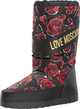 Rose Print Snow Boot