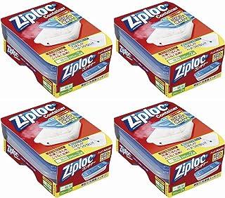 【まとめ買い】ジップロック コンテナー ごはん保存容器 薄型(2個入)×4個