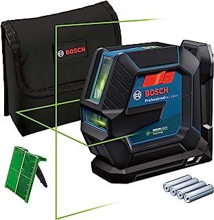 Bosch Professional Kombilaser GLL 2-15 G (grön laser, interiör, LB 10-fäste, synligt arbetsområde: upp till 15m, 4x AA ba...