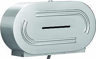 Bradley 5425-000000 18 Gauge Stainless Steel Jumbo Dual Roll Toilet Tissue Dispenser, 20-9/16