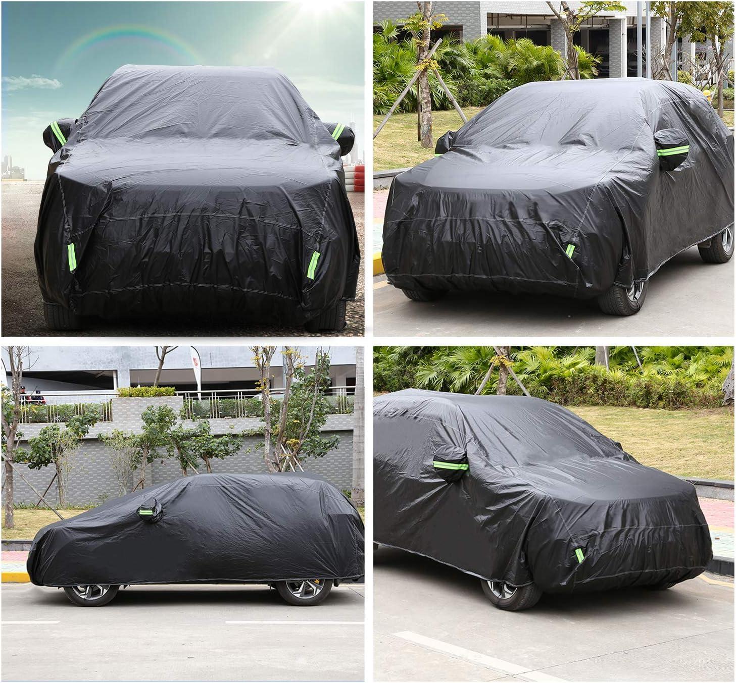 485x185x150cm//Sedan/_S//210T Homdox Funda de Coche Impermeable 210T Cubierta de Coche Anti-UV Antipolvo y Rasgu/ño