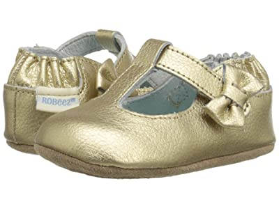 Robeez Glamour Grace Mini Shoez (Infant/Toddler) (Gold) Girl