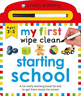 My First Wipe Clean Starting School
