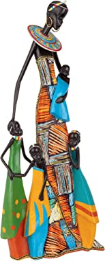 Design Toscano Celebrating Motherhood African Abstract Sculpture, 21.5 Inches, Full Color