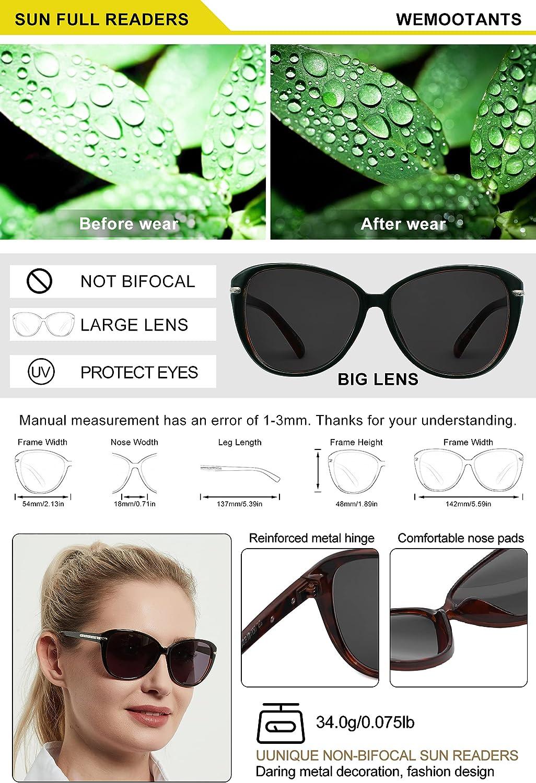 Buy WEMOOTANTS Round Reader Sunglasses Womens Square Sun Reading ...