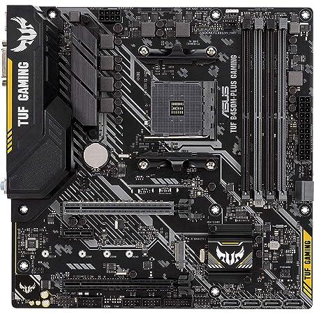 ASUS AMD B450 搭載 AM4 対応 マザーボード TUF B450M-PLUS GAMING 【MicroATX】【 第3世代 AMD Ryzen CPU に対応】