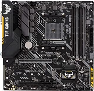 ASUS AMD B450 mATX gaming motherboard with Aura Sync RGB LED lighting, DDR4 3466MHz support, 32Gbps M.2, HDMI 2.0b, Type C...