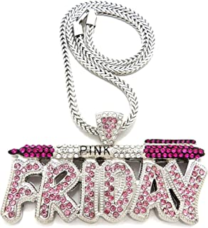GWOOD Pink Friday Pendant with 18 Inch Necklace