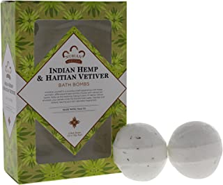 Nubian Heritage Indian Hemp & Haitian Vetiver Bath Bomb by Nubian Heritage for Unisex - 6 x 1.6 oz Bubble Bath, 6 count
