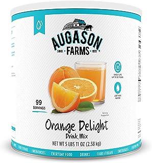Augason Farms Orange Delight Drink Mix 5 lbs 11 oz #10 Can