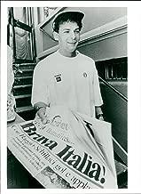 Vintage photo of Roberto Baggio, soccer player Italy