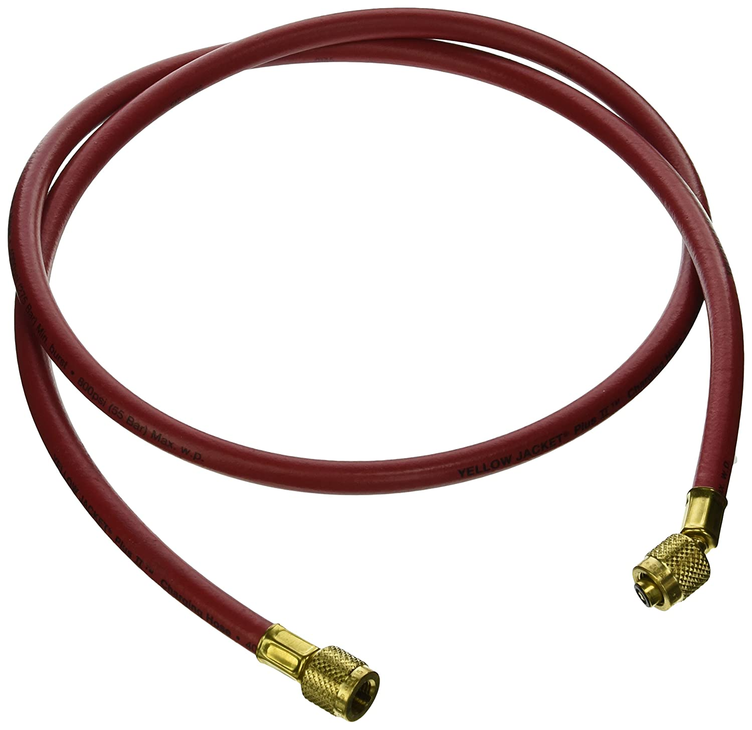 """Yellow Jacket 21465 Plus II Hose with 1/4"""" Female Flare, 60"""", Red: Multiroom Air Conditioners: Industrial & Scientific"""