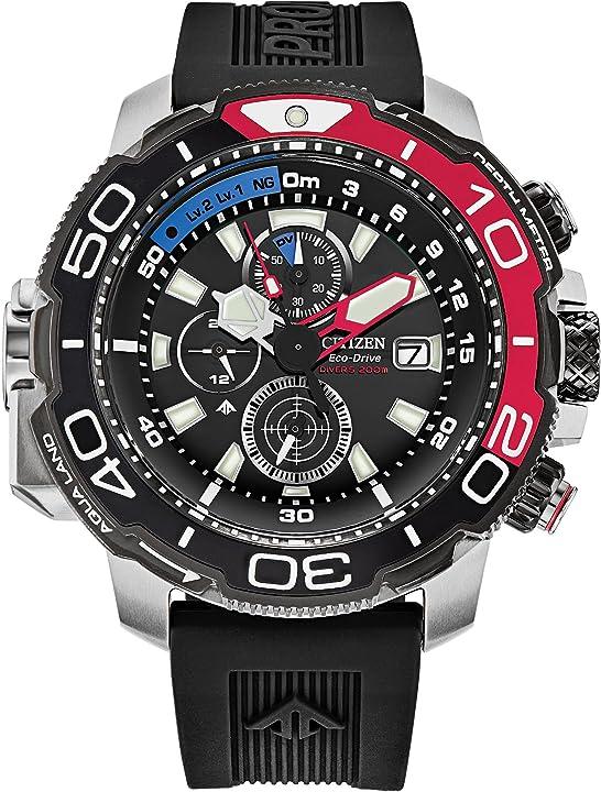 Citizen eco-drive promaster aqualand 46mm quadrante nero orologio da uomo BJ2167-03E