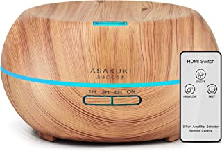 ASAKUKI Essential Oil Diffuser with Remote Control, 500ml Cool Mist Humidifier, 16 Hours Operation Aroma Diffuser with Wat...