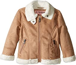 Ultra Suede Faux Shearling Jacket (Toddler)