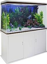 MonsterShop - Acuario 300 litros con Mueble Blanco y Grava Blanca 143cm x 120cm x 39cm