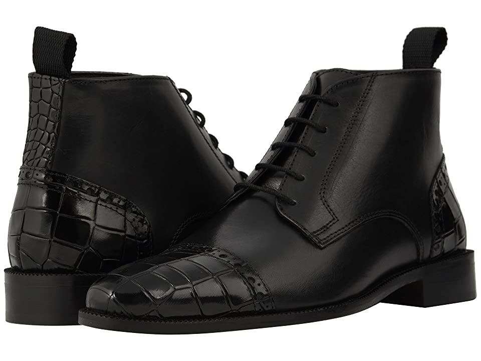 Stacy Adams Franco Cap Toe Lace-Up Chukka Boot (Black) Men