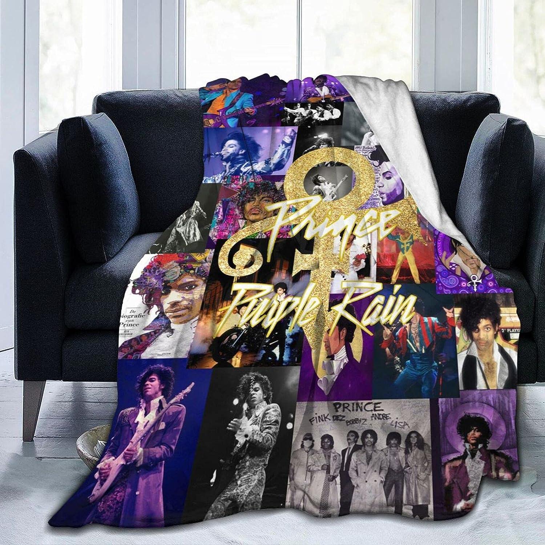 AIMOM Prince 百貨店 直営限定アウトレット 'Purple Rain' Blanket Flann Cozy Throw Soft