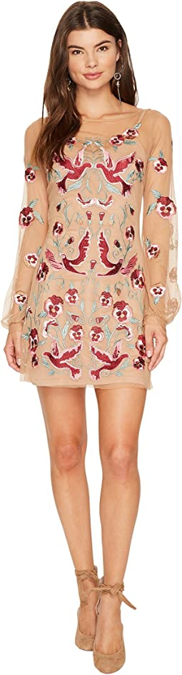 Dove Embroidery Mini Dress