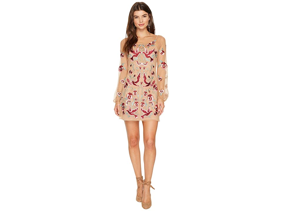 For Love and Lemons Dove Embroidery Mini Dress (Bird Floral) Women