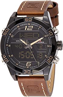 Naviforce Men's Black Dial Genuine Leather Analogue Classic Watch - NF9128-BYDBN