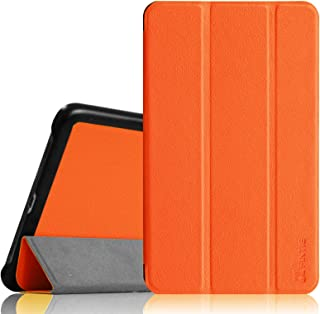 Fintie Slim Shell Case for Samsung Galaxy Tab 4 7.0 - Ultra Lightweight Protective Stand Cover for Samsung Tab 4 7.0(7-Inch) Tablet, Orange
