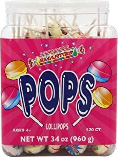 Smarties Pops, Smarties, 120 Count, 34 Ounce